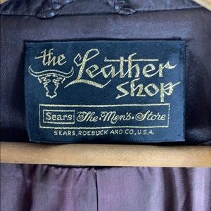 Sears Jackets & Coats - Sears Leather Shop Mens Store Brown Leather Jacket